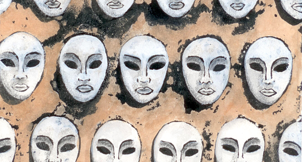 [ White Masks, © 2013 Cécile Matthey ]