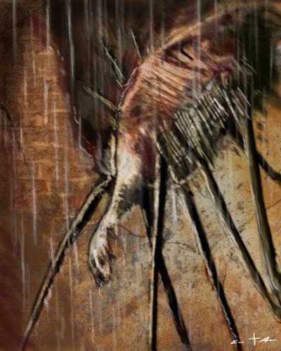 [ spider-legged antenna, © 2021 Eric Asaris ]