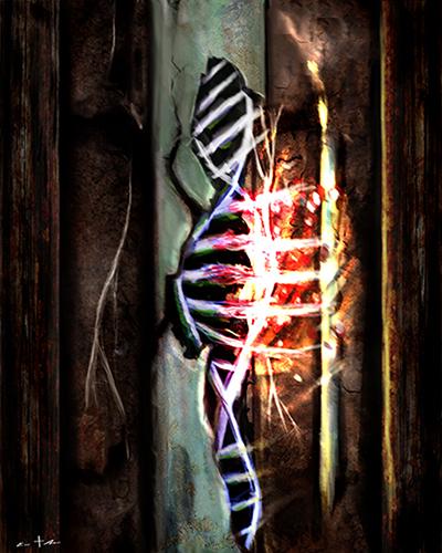 [ DNA spliced, © 2021 Eric Asaris ]