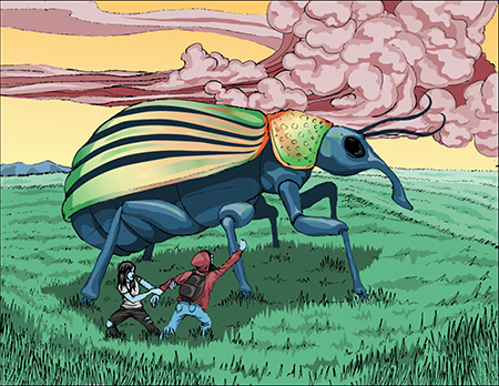 [ A towering insect, © 2017 Jason Baltazar ]