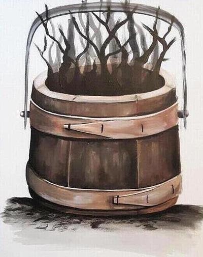 [ Birchbark bucket, © 2020, Katharine A. Viola ]