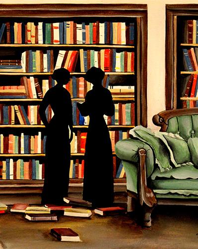 [ Library, © 2017 Katharine A. Viola ]