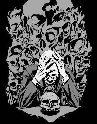 [ 273 skulls gazed at him, © 2012 Martin Hanford ]