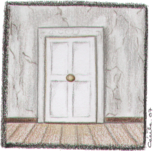 [ Piano Room Door © 2007 Cécile Matthey ]