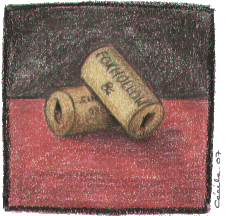 [ Two Empty Bottles © 2007 Cécile Matthey ]