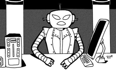 [ Robot Librarian, © 2009 Rebecca Whitaker ]