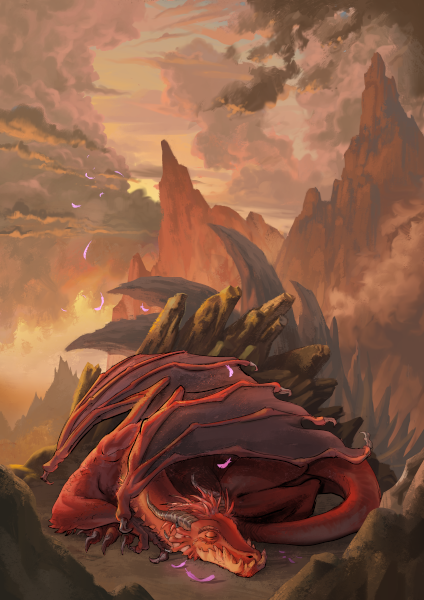 [ Dragon, © 2019 Saleha Chowdhury ]